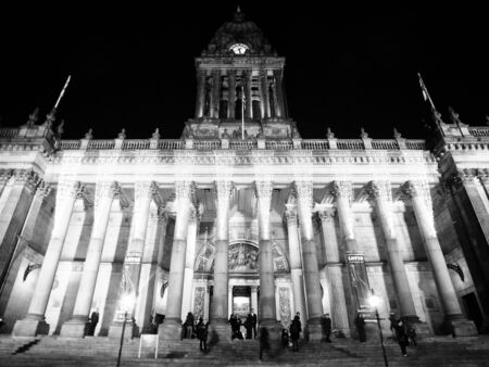 leeds town hall at night during event