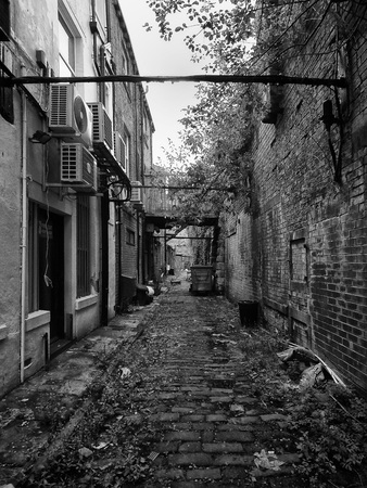 alley in west yorkshire town Editorial