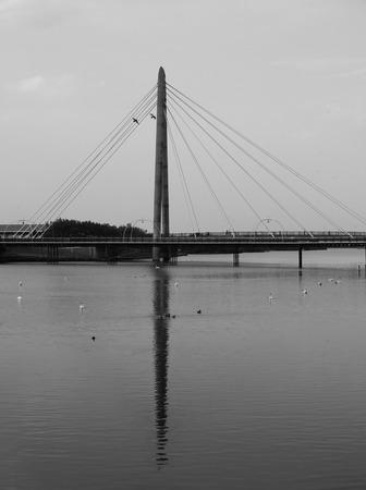 southport millennium bridge in the evening Stock Photo