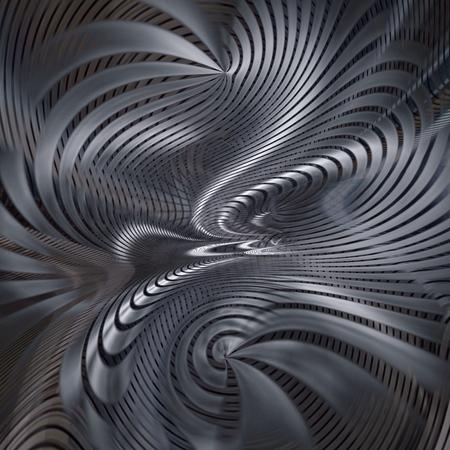 blue metallic background: curved spiral interlocking modern metal abstract background