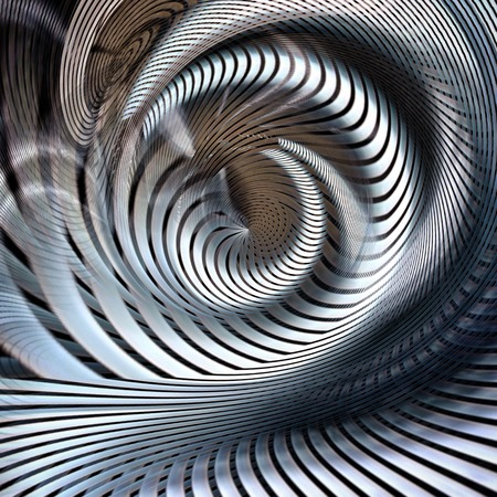 metallic spiral futuristic abstract