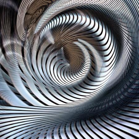 metallic spiral futuristic abstract Stock Photo - 81780568