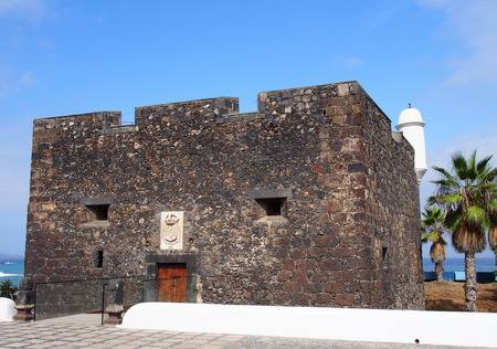 Castillo de San Felipe in puerto cruz tenerife a small castle on the seafront