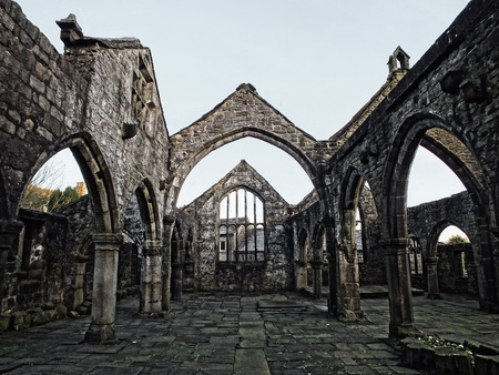 the medieval church in heptonstall west yorkshire interior view