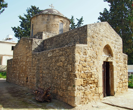 the old church of St Anthony in Paphos, Cyprus Stock Photo