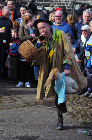 Heptonstall, West Yorkshire, UK - March 20 2018: An actor in the traditional good friday easter pace egg play in heptonstall west yorkshire