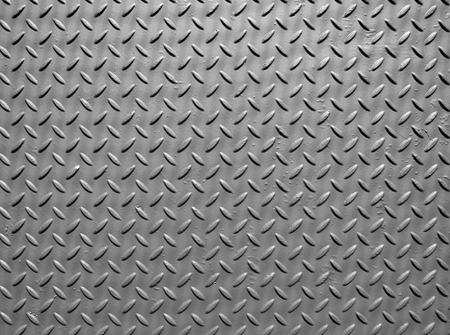grey steel metal plate with paint texture and industrial diamond pattern texture Stock Photo