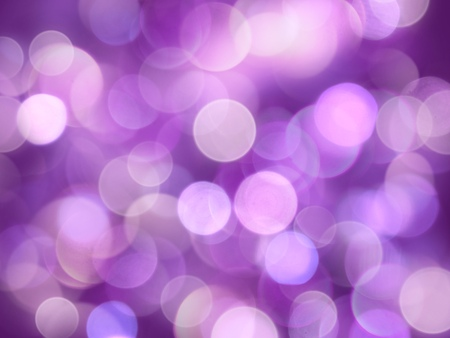 Bright violet and white bright blurred round lights glowing abstract background Stock Photo