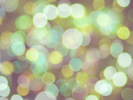 a round blurred bright green shining lights glowing celebration abstract background Stock Photo