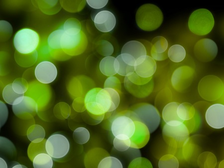 glowing bright green round blurred lights abstract night background