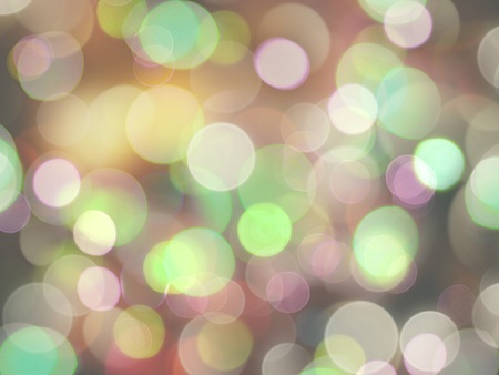 many colored glowing bright soft round lights abstract