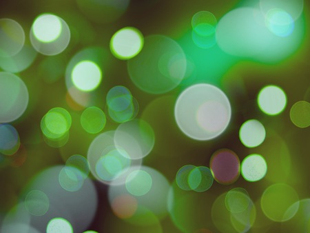 a green lights blurred circles background