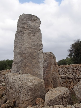 Talaiot de Trepuco megalithic Taula monument and standing stone in Menorca Spain