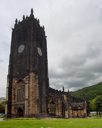 halifax minster in west yorkshire a medieval church formerly a parish known as saint john the baptist completed in 1438 Stock Photo - 124727180