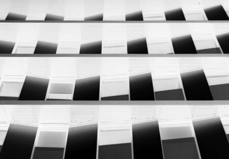 modern futuristic abstract negative image architecture concept background with geometric angled windows