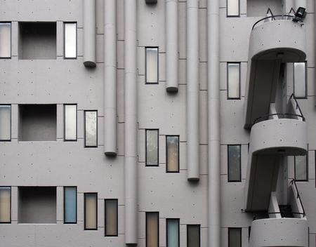 leeds, west yorkshire, united kingdom - 24 july 2019: architectural details of windows and balconies of the roger stevens building a 1960s brutalist building at the university of leedssity of leeds
