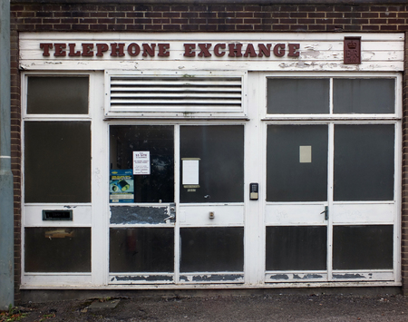 sowerby bridge, west yorkshire, united kingdom - 14 september 2019: an old 1960s post office type local telephone exchange in sowerby bridge west yorkshire