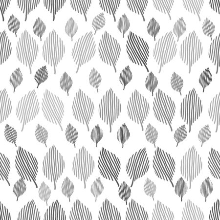 monochrome repeating leaf design seamless modern pattern Imagens