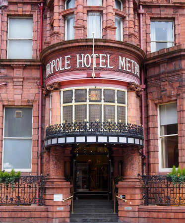 leeds, west yorkshire, united kingdom - 4 March 2020: the metropole hotel on King Street in leeds built in 1889 on the site of the 4th White Cloth Hall Editorial