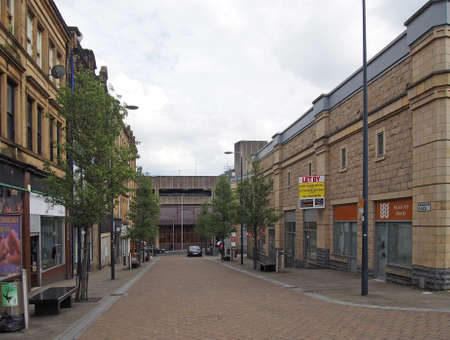 bradford, west yorkshire, united kingdom - 19 june 2019: rawson place in bradford west yorkshire with the former market shopping centre with empty commercial properties and shops Editorial