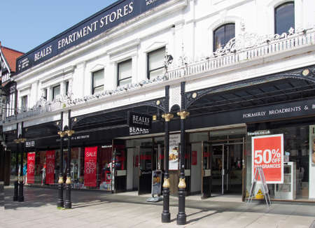 southport, merseyside, united kingdom - 28 june 2019: beales department store on lord street in southport merseyside