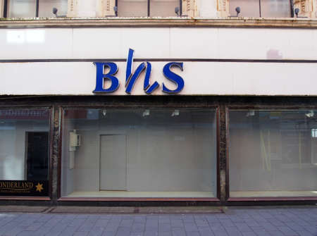 southport, merseyside, united kingdom - 28 june 2019: a closed british home stores shop in chapel street southport empty since bhs went into liquidation in 2016