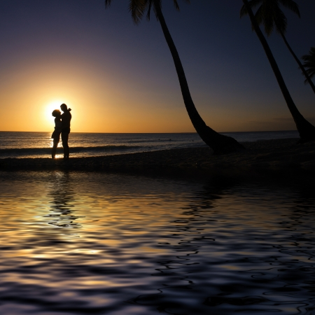 El amor en la playa  photo