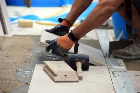 tiler at work photo
