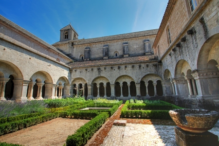 senanque: Senanque Abbey in the South of France Stock Photo