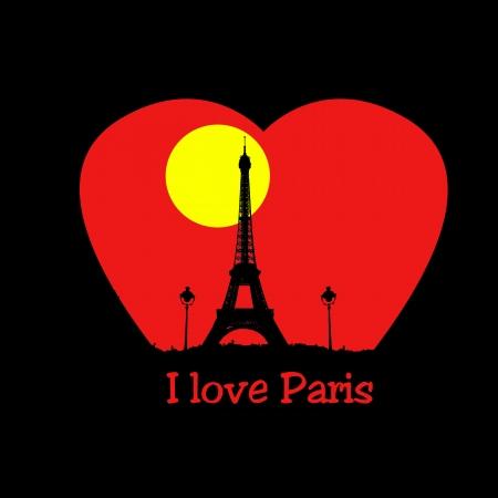 i love paris: I love Paris Stock Photo
