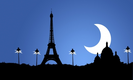 i love paris: Illustration of Paris capital of France