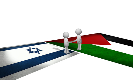 Peace between Palestine and Israel Stock Photo