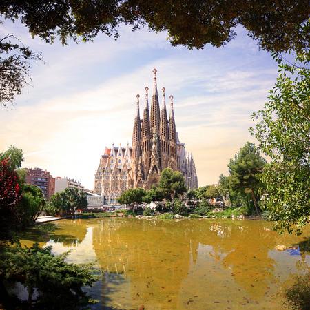 familia: Spain Barcelona Stock Photo
