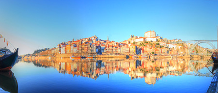 ribeira: beautiful view of the Ribeira in the center of Porto
