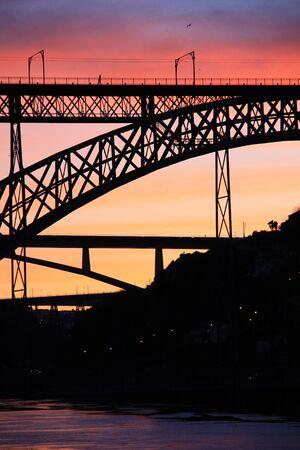 dom: Portugal: View of Dom Luis Bridge in Porto Stock Photo
