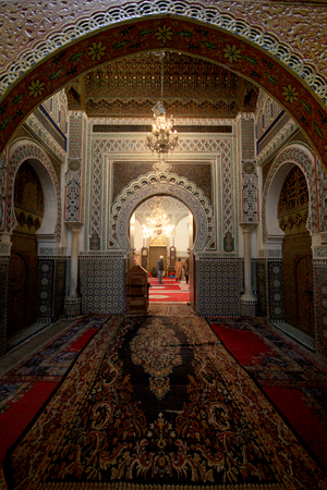 In the Mosque of al-Qarawiyyin of Fes in Morocco