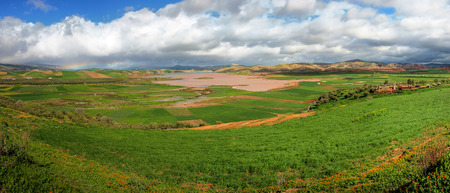 Landscape in the plains of Fez in Morocco Standard-Bild - 97582322