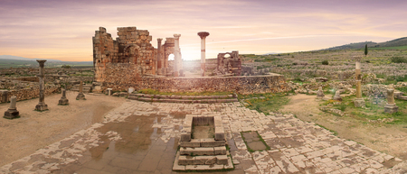 Volubilis, Roman city of antiquity in Morocco 新聞圖片