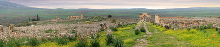 Volubilis, Roman city of antiquity in Morocco 版權商用圖片
