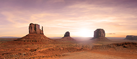 Nice view of the Monument Valley in the United States 版權商用圖片