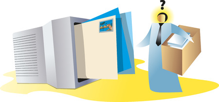 direct mail: Concept on electronic mail Illustration