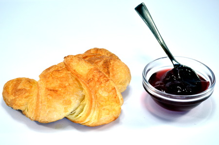 french fancy: A croissant with jam.