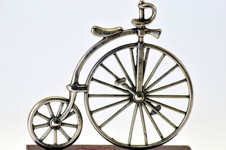 velocipede: An old bikes.
