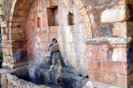 beauty fountain: An old fountain in Greece without water.
