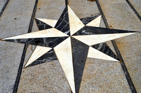 stone floor: Symbol to create on the stone floor with diamonds
