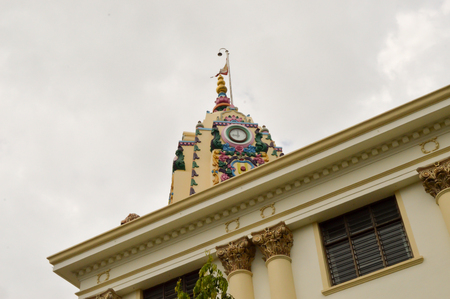 Dome of an Indian temple in the town of Mombasa, Kenya