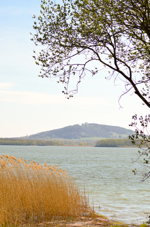 View of the lake of Madine in the department of the Meuse in france