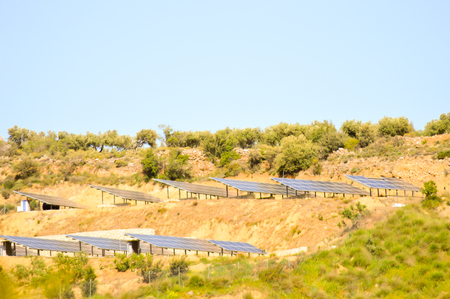 voltaic: Voltaic panels on a mountain in the center of Crete