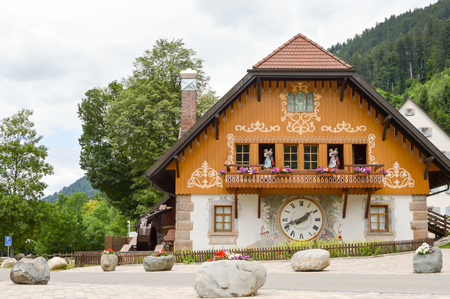 House of the Hofgut Sternen cuckoo in the black forest in Germany Stock Photo