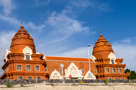 Thai-inspired architecture building with two domes on the island of Tenerife in SPAIN Imagens